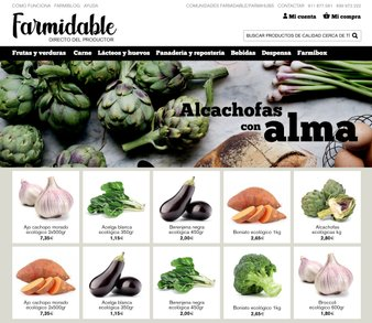 Web design for a locally-sourced, organic and sustainable fruit and vegetable distributor